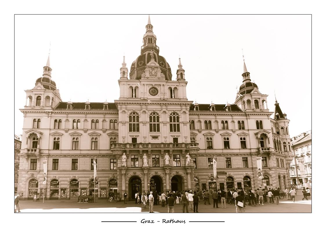 [Graz] Le Rathaus (Hôtel de ville).
